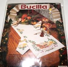 Bucilla Christmas Music Table Runner Cross Stitch 82981 NEW Sealed
