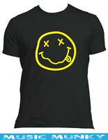 NIRVANA NEVERMIND grunge 90's  t-shirt New in ALL SIZES & COLOURS smiley face