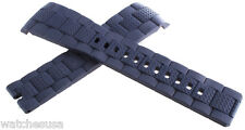 Zenith Defy 23mm Dark Navy Blue Rubber Strap Band