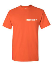 SHERIFF T Shirt Cop Double Sided Police Duty T-Shirt Easy Halloween Costume Tee