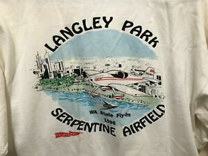 Langly Park Serpentine Airfield WA State Fly In 1996 Polo Shirt -Size M
