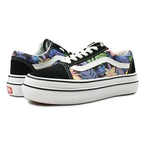 Vans Super ComfyCush Old Skool Shoes Tropicali Black True White 10 New