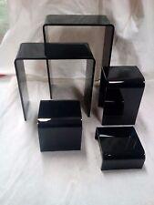 ACRYLIC DISPLAY RISER SET 5 PCS BLACK IN COLOR 5 LEVEL RISER SET