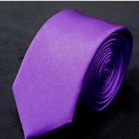 Fashion Men's Plain Slim Narrow Arrow Necktie Skinny Tie Neckwear Ties