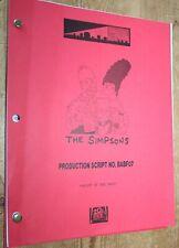 THE SIMPSONS RARE  TV SERIES SHOW SCRIPT EPISODE GRIFT OF THE MAGI