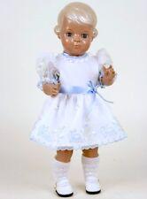 Schildkröt vestidos de muñeca organzakleid con plauen bordado para 56cm muñecas