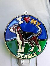 "Stained Glass Style "" beagle "" Dog Night Light- Great Gift For All Occasions !"