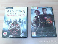 assassins creed brotherhood & demonicon  new&sealed