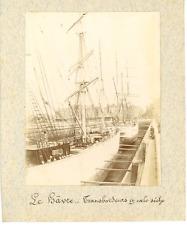 France, Le Havre, Transbordeurs en cale sèche  Vintage albumen print.  Tirag