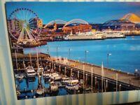 BEAUTIFUL PHOTO POST CARD SEATTLE WATERFRONT WASHINGTON STATE FERRIES WASHINGTON