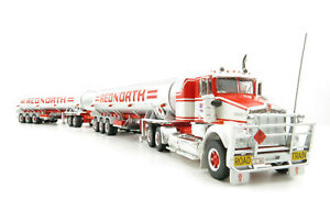 Highway Replicas 12017 Kenworth SAR Truck Tanker Road Train Red North Scale 1:64