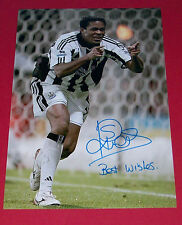 PATRICK KLUIVERT NEWCASTLE UNITED UTD SIGNED 12X8 AUTOGRAPH PHOTO SOCCER