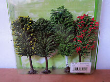 JORDAN scenery #5A HO Scale MIXED TREES X 4 10cm-11cm New in pack