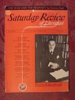 Saturday Review October 21 1939 FLETCHER PRATT SHOLEM ASCH