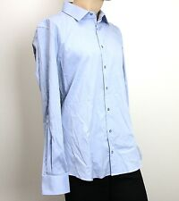 51483ad6d80 NEW Authentic Gucci Mens Dress Shirt Fitted Light Blue 47 18.5