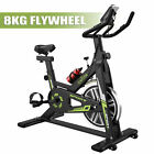LOEFME 8KG Exercise Bike Stationary Cycling Bicycle Cardio Fitness Workout Home