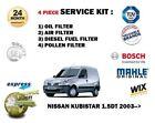 para NISSAN KUBISTAR 1.5dt 2003> Kit de mantenimiento Aire Aceite Gasolina