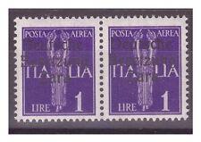 ZARA  1943  POSTA AEREA -  LIRE 1  - COPPIA  DUE  TIPI   NUOVO **