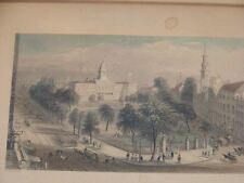 Antique 1839 Engraving WH Bartlett  New York City Hall