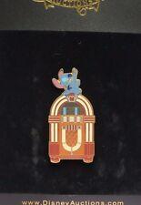 DISNEY AUCTIONS STITCH ON JUKEBOX PLAYING AIR GUITAR LE 1000 PIN