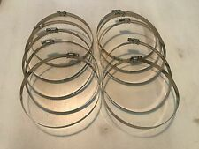 """(10) 6"""" Adjustable Stainless Steel Hose Clamps Hydroponics Exhaust Vent Fan"""