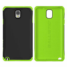 Samsung NOTE 3 Ballistic Aspira Case BLACK/GREEN FREE CAR CHARGER Note 3 Cover