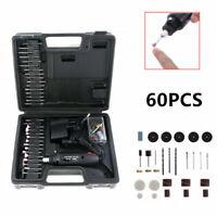 60 pcs Mini Electric Drill Grinder Kit Polishing Drilling Cutting Rotary Tool