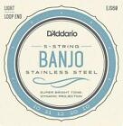 D'Addario EJS60 Stainless Steel 5-String Banjo Strings Light 10 - 20 *New Look* for sale