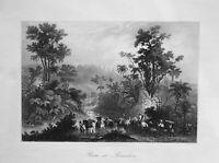 1850 Brasilien Brazil Reise Südamerika South America Ansicht view Stahlstich