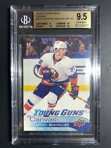 2016-17 Upper Deck Anthony Beauvillier Young Guns Canvas Rookie BGS 9.5