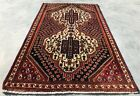 Authentic Hand Knotted Vintage Qashgai Wool Area Rug 4.5 x 2.6 Ft (2335 KBN)