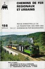 CHEMINS de FER RÉGIONAUX et URBAINS - N° 156 (1979 - 6) (CFRU - FACS) (Train)
