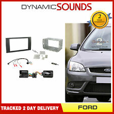 CTKFD46 Double Din Car Fascia Steering Antenna Kit for Ford C-Max Focus Fiesta