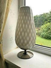 Huge Vintage 1950 Italian Empoli diagonal quilt cased opaline glass goblet vase