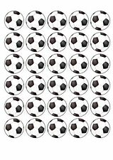 30 Football FC Edible WaferPaper Cupcake Cup Cake Decoration Topper Image