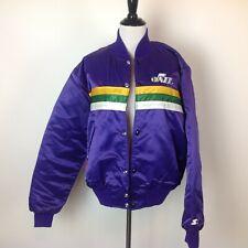 Vintage Utah Jazz Starter Jacket NBA Satin Mens Medium