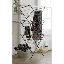 Concertina Clothes Airer Folding Clothes Horse Laundry Drying Rack Black