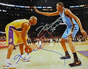"""Kobe Bryant & Kevin Durant 8x10 Signed Autograph Reprint """"Mint"""" {FREE SHIPPING}"""