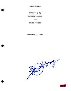 GFA Blade Runner JAMES HONG Signed Full Movie Script COA