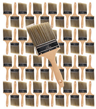 """48PK 4"""" Flat House Wall,Trim Paint Brush Set Home Exterior or Interior Brushes"""