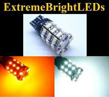 Amber Dual Color Switchback Turn LED Light 12V 10Pcs T20 7443 1210 60SMD White