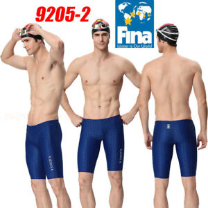 NWT YINGFA 9205-2 MEN'S RACING JAMMERS SWIMMING TRUNKS 3XL Sz34/36 FINA APPROVED