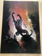 GREAT WHITE LIZARD Frank Frazetta Vintage Art 1973 Mars Fantasy Science Fiction