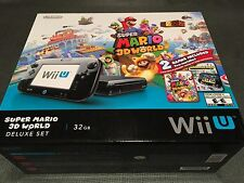 Nintendo Wii U Super Mario 3D World Deluxe Set 32GB Black Console BRAND NEW