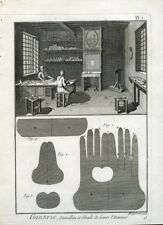 GLOVES Making Diderot et D'Alembert 5 tv. original etchings Livorno 1770