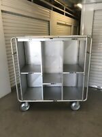 VTG Commercial Airline Cart PAN AM 747 Aircraft Blanket Dolley Cart 1970's 58x54