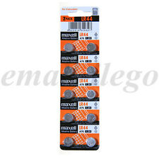 10pcs Maxell LR44 A76 303 357 L1154 AG13 SR44 1.5V Alkaline Coin Cell Battery