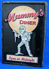 MUMMY'S DINER -*US MADE* Embossed Sign - Man Cave Garage Bar Pub Cafe Wall Decor