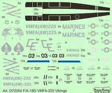 "F/a-18 D vmfa - 225 ""VICHINGHI"" (US Marines MARCATURE) #7254 1/72 modelmaker"