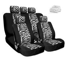 NEW PREMIUM GRADE BLACK MESH ANIMAL ZEBRA TIGER PRINT SEAT COVERS FOR VW